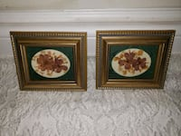 4 Small flower artwork pieces with frame  Richmond Hill, L4S 1E7