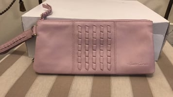 pink leather Michael Kors wallet
