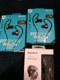 black and gray Sony wireless headphones box Stockton, 95207