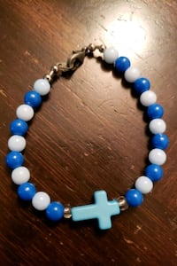 cross bracelet in blue