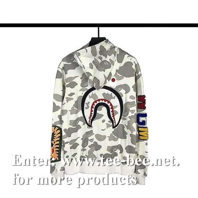 Bape City Camo Shark hoodie black & white