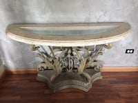 Antique console table, metal and glass Hampshire, 60140