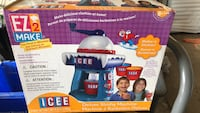 blue and red Fisher-Price activity gym box