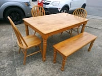 Table 3 Chairs and Bench