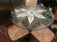 Glass top table w/ 4 chairs