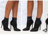 Brand new black ankle sock boots Alexandria, 22302