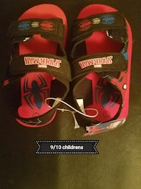 baby's pair of red-and-black Spider-Man-themed sandals Bowling Green, 42101