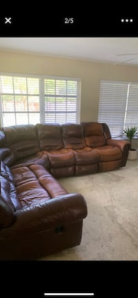 Brown Leather Sectional  Vero Beach, 32960