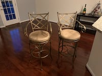Tall metal cushioned bar stools. Microfiber fabric. Very strong and swivels   Alexandria, 22310