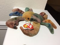 Claude the tie dye crab -ty beanie baby