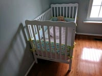 crib white with mattress (never used) West Springfield, 22152