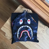 Bape Shark Hoodie Full Zip Blue Mississauga, L5H