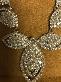 High Quality Macy's Rhinestone Jewelry Sets Each one Retails for 60.00. Included stunning necklace and matching earrings. Chain is adjustable. Nice weight. Brand new with tags. Great gift! Asking 25.00 Perfect for cruise wear or prom. Comes with cloth poc