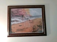 brown wooden framed painting of house Chesapeake, 23324