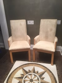 Cream Microfibre Accent Chairs Kleinburg, L4H 4A3