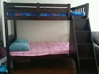 brown wooden bunk bed frame Barrie, L4N 0N7