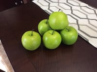 Decorative Artificial Green Apples - Set of 6 Courtice