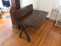 Brown wooden drop leaf table Wilmington, 19809
