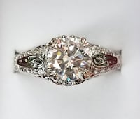 Luxury sterling silver round cut white topaz ring Baltimore