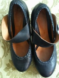Poetic Justice, Black Leather shoes size 40/9 Richmond