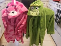 Kids animal fuzzy house coats Edmonton, T5A