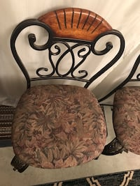 brown and black floral padded chair Los Angeles, 91403
