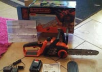 BRAND NEW NEVER USED CHAINSAW +charger +20v batt.  Peoria, 85345