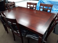 7pc new in box dining table with 6 chairs package deal 47 km