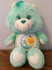 "Care Bears Vintage ""Bedtime Bear"" 13"" Plush Kenner/Am Greetings 1983 Excellent Condition Granger"