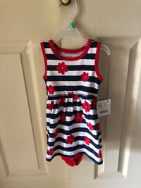 Healthtex Baby Size 6-9 Mo. 2 pc outfit, Red/Wht/Blue Baltimore, 21236