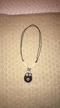Handmade Adjustable Leather Necklace Beaumont, 77706