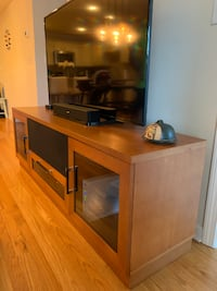 Media Console with storage  - Cherry color