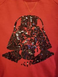 Red Darth Vader long sleeve, size L women's