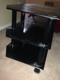 black wooden TV stand with shelf Oshawa, L1G