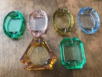 Beautifully coloured set! Vintage 6 Depression Era Glass Barrie