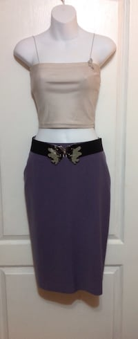 Purple Knee length Skirt: Size Small