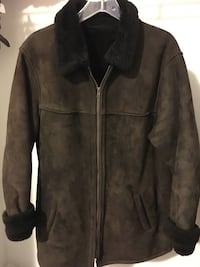Women's brown sheepskin winter jacket King, L7B 0C6