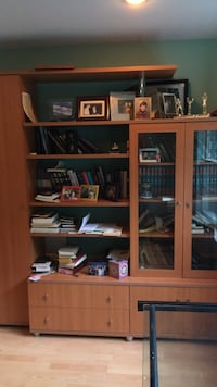 brown wooden TV hutch with flat screen television Mahwah, 07430