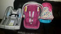 baby's pink and black car seat carrier Bladensburg, 20710