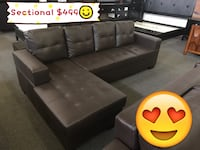 Brand new brown faux leather sectional sofa winter sale 多伦多, M1V 1E8
