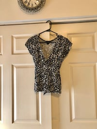 Express Black and White Blouse (S) Odenton, 21113