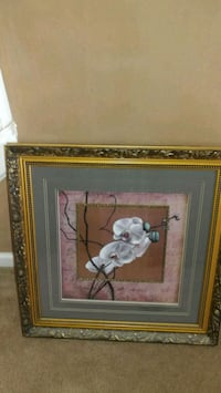white orchid flower painting with frame Hiram, 30141