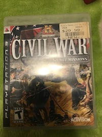 PS3 Console Game; Civil War Secret Missions