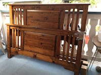 brown wooden bed headboard and footboard Chilliwack, V2R