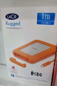 Lacie Rugged thunderbolt 1Tb external HDD.