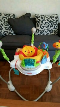 baby's white and green Fisher-Price jumperoo Mississauga, L5W 1S8