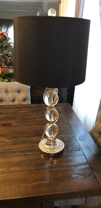 clear glass table lamp with black lampshade Los Angeles, 90031