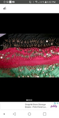 New baladi skirt green or pink left
