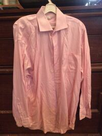 Faconnable long sleeve pink men's button down shirt Smithsburg, 21783