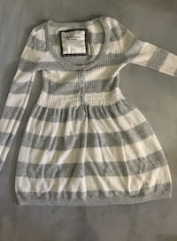 Gray and white striped sweater Abercrombie & Fitch Los Angeles, 91325